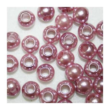 Perla sintética rosa paso 5mm