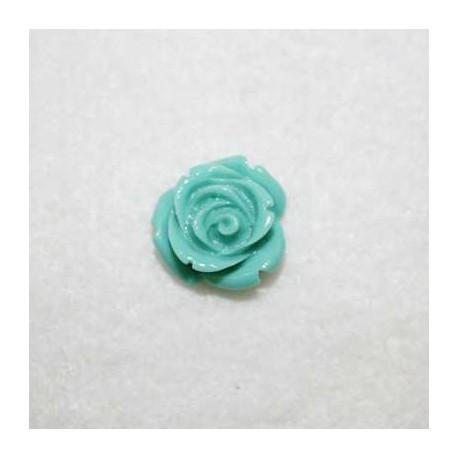 Rosa de resina pequeña tuquesa verdoso