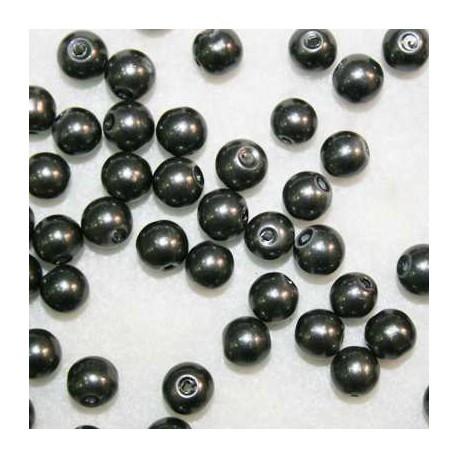 Perla sintética gris de 8mm