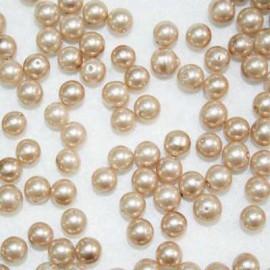 Perla sintética beige de 6mm