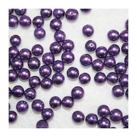 Perla sintética morada de 6mm