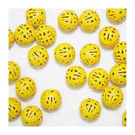 Bola calada metal amarillo