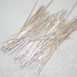 Bastón largo plateado de 50mm x 100 unidades
