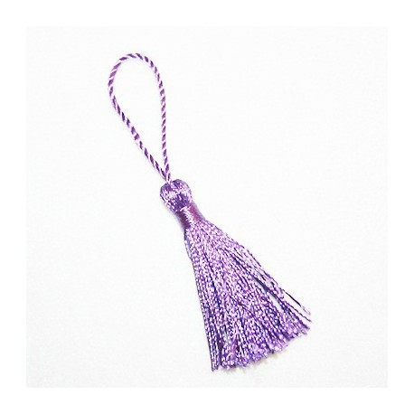 Borla o pompón violeta mediano