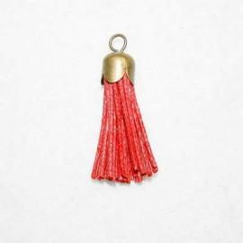Borla roja con casquillo bronce