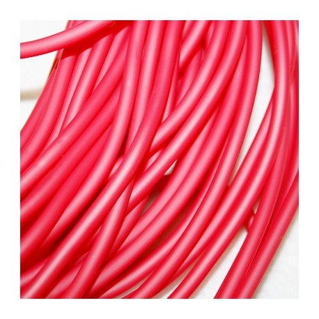 Caucho rojo 4mm hueco