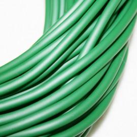 Caucho verde oscuro 4mm hueco