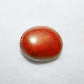 Cuenta cristal redondeada rojo