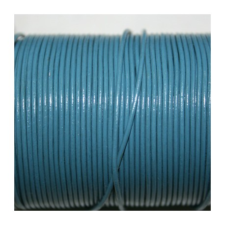 Cuero redondo 1mm azul