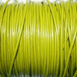 Cuero redondo 1,5mm nacional verde claro