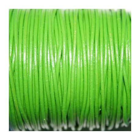 Cuero redondo 1,5mm nacional verde