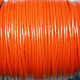 Cuero redondo 1,5mm nacional naranja