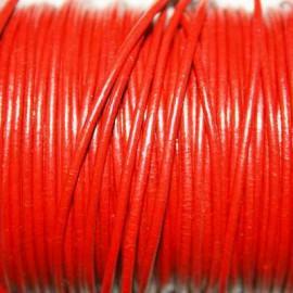 Cuero redondo 1,5mm rojo