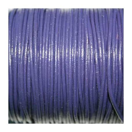 Cuero redondo 1,5mm nacional violeta