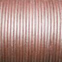 Cuero redondo 2mm metalizado rosa