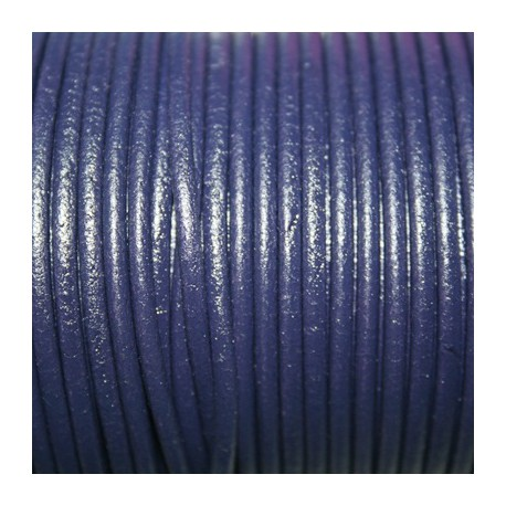 Cuero redondo 2,5mm nacional violeta oscuro