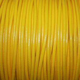 Cuero redondo 3mm nacional amarillo