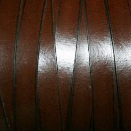 Cuero sintético plano 10mm marrón