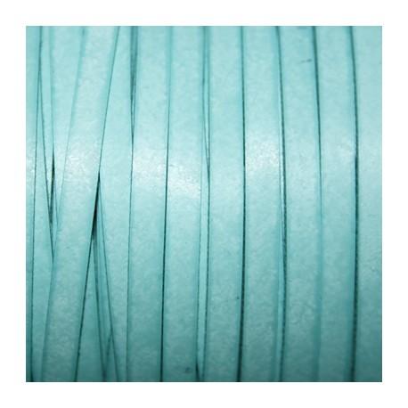 Cuero sintético plano 5mm turquesa