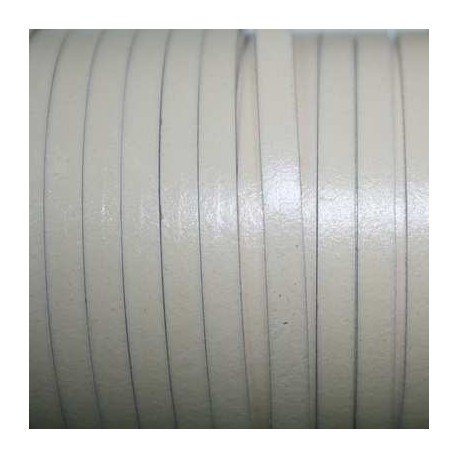 Cuero sintético plano 5mm marfil