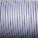 Cuero redondo 3mm metalizado lila