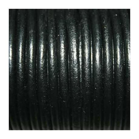 Cuero redondo 4mm negro