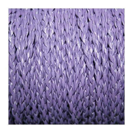 Cuero sintético trenzado 3mm violeta