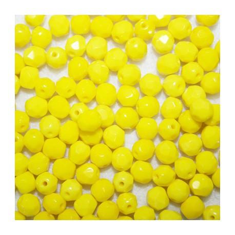 Facetada checa 6mm amarillo mate