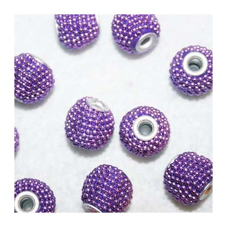 Bola étnica violeta pequeña