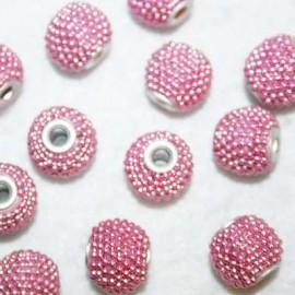 Bola étnica rosa pequeña