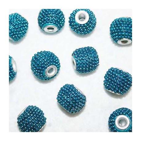 Bola étnica azul pequeña