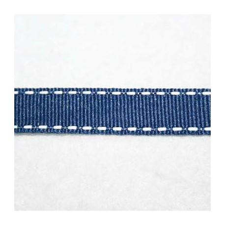 Cinta pespunteada azul marino 13mm