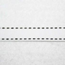 Cinta pespunteada blanca 13mm