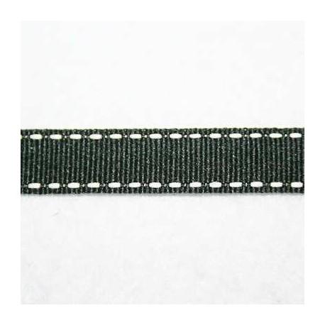 Cinta pespunteada negra 13mm