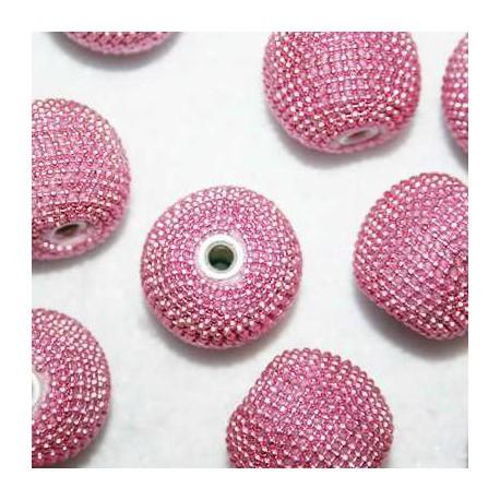 Bola étnica rosa grande