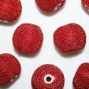 Bola étnica grande rojo