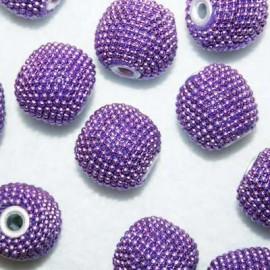 Bola étnica violeta mediana