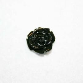 Rosa de resina pequeña negra