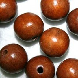 Bola madera marrón 20mm