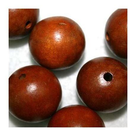 Bola madera marrón 25mm