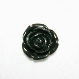 Rosa de resina mediana negra