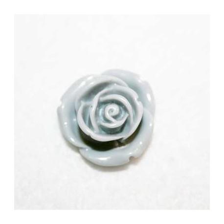 Rosa de resina mediana gris
