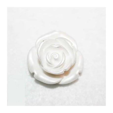 Rosa de resina mediana plata