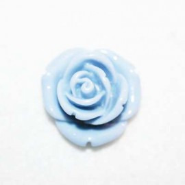 Rosa de resina mediana azul