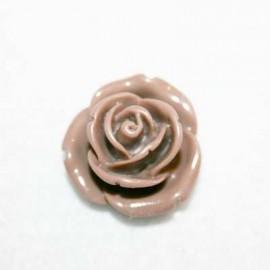Rosa de resina mediana marrón