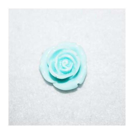 Rosa de resina mediana celeste