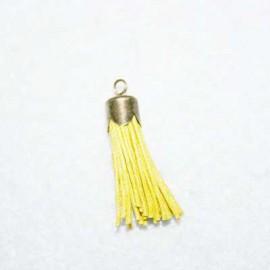 Borla amarilla con casquillo bronce