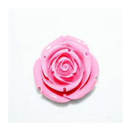 Rosa de resina grande rosa