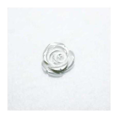 Rosa de resina pequeña plata