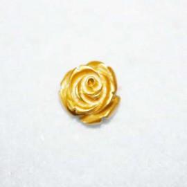 Rosa de resina pequeña dorada